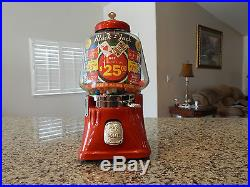 Antique/Vintage Gumball/Peanut Machine Silver King Gambler 5 Cent Novelty