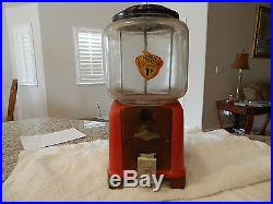 Antique/Vintage Gumball/Peanut Machine Victor Challenger 1 Cent Coin OP