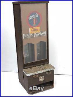 Antique Vintage Hershey Hershey's One Cent Vending Machine Shippman Mfg. Co