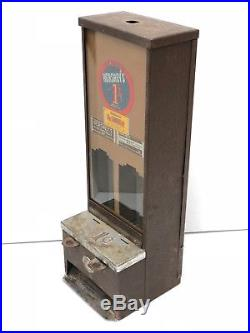 Antique Vintage Hershey Hershey's One Cent Vending Machine Shippman Mfg. Co