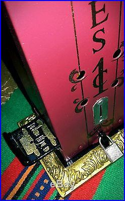 Antique Vintage MORRIS Penny Cent Coin Op Match Box Vending Dispenser Machine