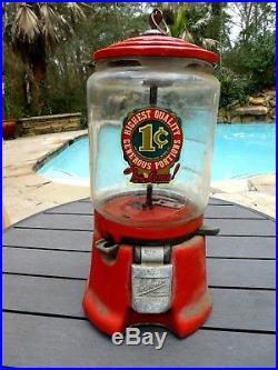 Antique Vintage Northwestern Gumball Machine 1939