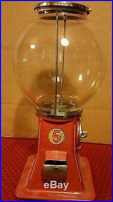 Antique Vintage Vending 5 cent Peanut Machine