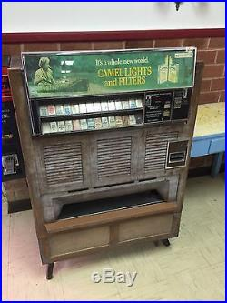 Antique Vintage Vending Coin Operated Cigarette And Lighter Dispencer Machine