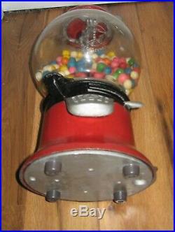Antique Vtg Columbus 1 Cent Model 46 46G Gumball Vending Machine Original 1 Cent