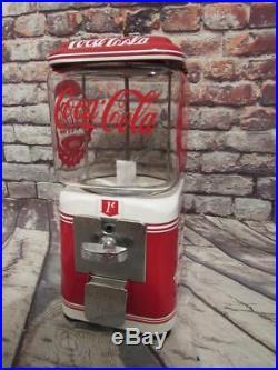 Antique penny machine Coca cola vintage Acorn gumball machine glass globe
