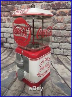 Antique penny machine Coca cola vintage Acorn gumball machine glass globe 1 cent