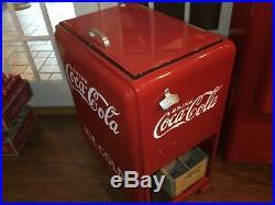 Beautiful Vintage Restored 1940s Coca-Cola Junior Ice-Box Cooler -In Home Decor