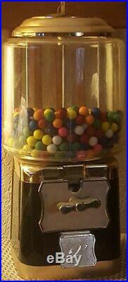 Bubblegum Machine Green & Gold with 2 Keys Vintage Style BRAND NEW