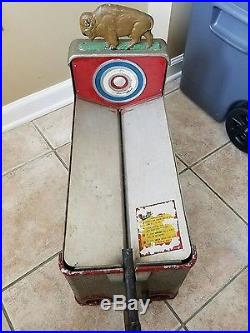 Buffalo Penny Shooting Gumball Arcade Coin Op Parts or Restoration Vintage