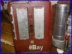 CANTEEN Vintage Penny Peanut Machine Double Slot Vending RARE