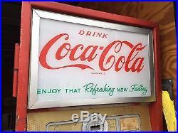 Cavalier C-55d Vintage Coca-cola Vending Coke Machine