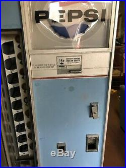 Choice Vend Vu-b-9-72 Pepsi Vending Machine Vintage