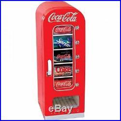 Coca Cola Can Retro Mini Cooler Fridge Vending Machine Soda Vintage Look 10 Cans