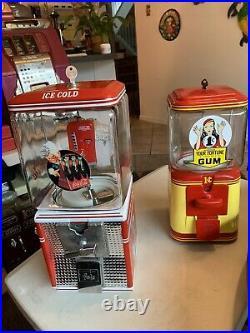 Coca Cola Coke Vintage Northwestern 25c. Gumball Peanuts Machine Folz New