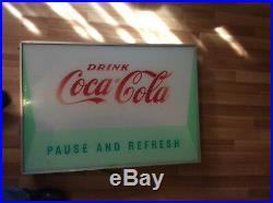 Coca-Cola Collectible Vintage Vending Machine Sign