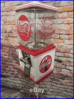 Coca Cola memorabilia vintage gumball machine candy dispenser bar man cave gift