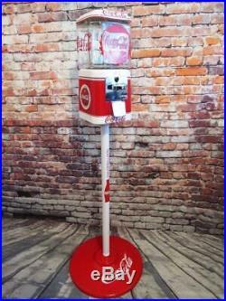 Coca cola Coke memorabilia vintage gumball machine 10 ¢ Acorn glass bar decor