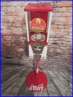 Coca cola memorabilia vintage candy machine gumball / nuts dispenser memorabilia