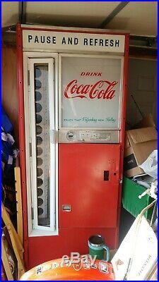 Coca cola vendo 44 vintage 1950's vending soda pop machine coin op Coke