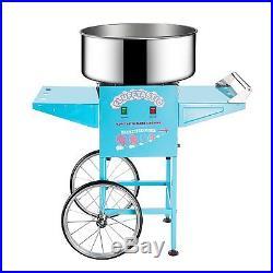 Commercial Cotton Candy Cart Machine Electric Vintage 1000 W Portable Quiet New