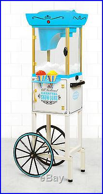 Commercial Vintage Snow Cone Cart Maker Shaved Machine Ice Crusher Slushy Party