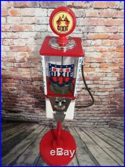 Dixie oil gas vintage gumball machine bar office decor man cave gift memorabilia