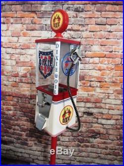 Dixie oil gas vintage gumball machine bar office decor novelty memorabilia gift