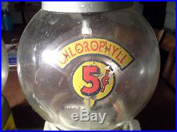 Double Chlorophyll Machine 1950s gumball vending candy Vintage