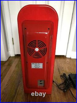 Drink-O-Matic Red Novelty Soda Vending Machine DR-3 10-Can RARE VINTAGE