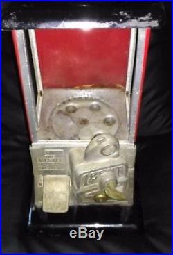 ESTATE SALE Vintage Unrestored 1923 Red & Black Masters Gumball Machine with Key