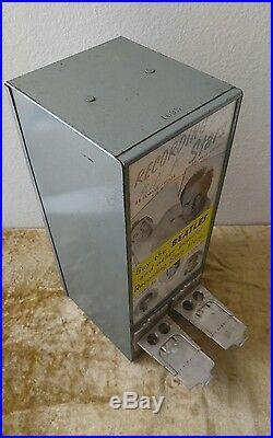 EXHIBIT SUPPLY CO VINTAGE 2 Cent Penny Trading Card Vending Machine withInventory