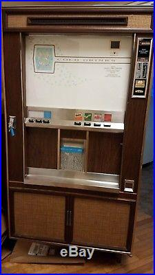 EXTREMELY RARE Vintage cold cup soda vending machine for Restoration
