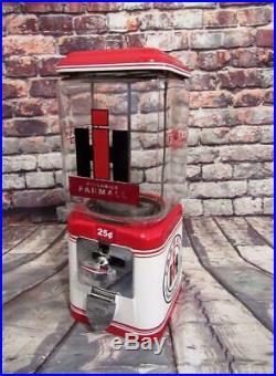 FARMALL tractor gumball machine candy dispenser vintage Acorn glass machine