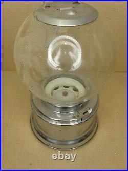 FORD GUM 1 CENT GUMBALL MACHINE VINTAGE, Glass Globe, Plastic Wheel