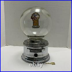 Ford Gumball Machine 10 Cent Vintage Glass Globe With Original Working Lock/key