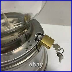 Ford Gumball Machine 10 Cent Vintage Glass Globe With Topper And Lock/Key