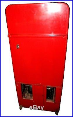Fully Restored Vintage VMC Model 72 Coca-Cola Vending Machine with Water Fountain