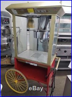 GOLD MEDAL MODEL 2014 GAY 90'S WHIZ BANG 12OZ VINTAGE POPCORN MACHINE With CART