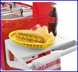 Hot Dog Stand Cart Mobile Food Concession Kiosk Carnival Vintage Retro Umbrella