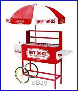 Hot Dog Vending Cart Mobile Concession Food Kiosk Carnival Vintage Commercial