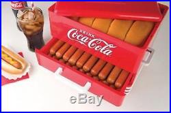 Hot Dog Warmer STEAMER Vintage Retro Roller Cooker MACHINE Bun Hotdog