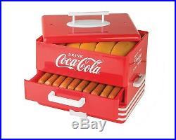 Hot Dog Warmer Steamer Cooker Food Machine Vintage Retro Electric Bun Coca-Cola