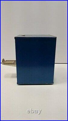 Imperial Blue/Yellow Vintage Pen Vending Machine