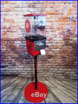 Indian Motorcycle vintage coin op gumball machine M&m dispenser + stand
