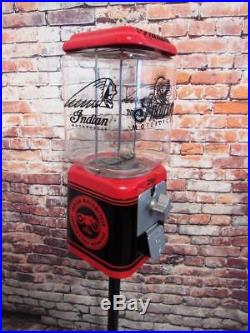 Indian Motorcycle vintage gumball machine vintage Ford stand Acorn glass globe