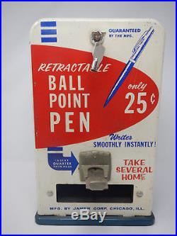 Jamer Corp. Vintage 25 cent Ball Point Pen Dispenser / Vending Machine