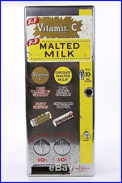 Jennings & Co Vintage Coin Operated Vending Machine Vit C & Malted Milk Untested