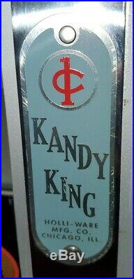 KANDY KING Vintage Penny Vending Machine Coin Op Rare One Cent Art Deco Candy