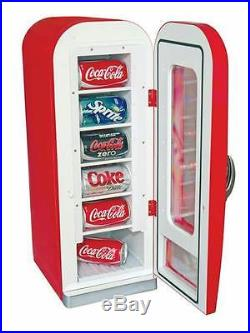 Koolatron Coca Cola Retro Vending Fridge cooler Soda Beer counter top Gameroom